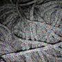 เชือกร่ม ถักกระเป๋า ดิ้นรุ้ง สีเทาเงิน