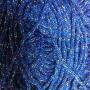 เชือกร่ม สีน้ำเงิน แซมดิ้นรุ้ง 7 สี
